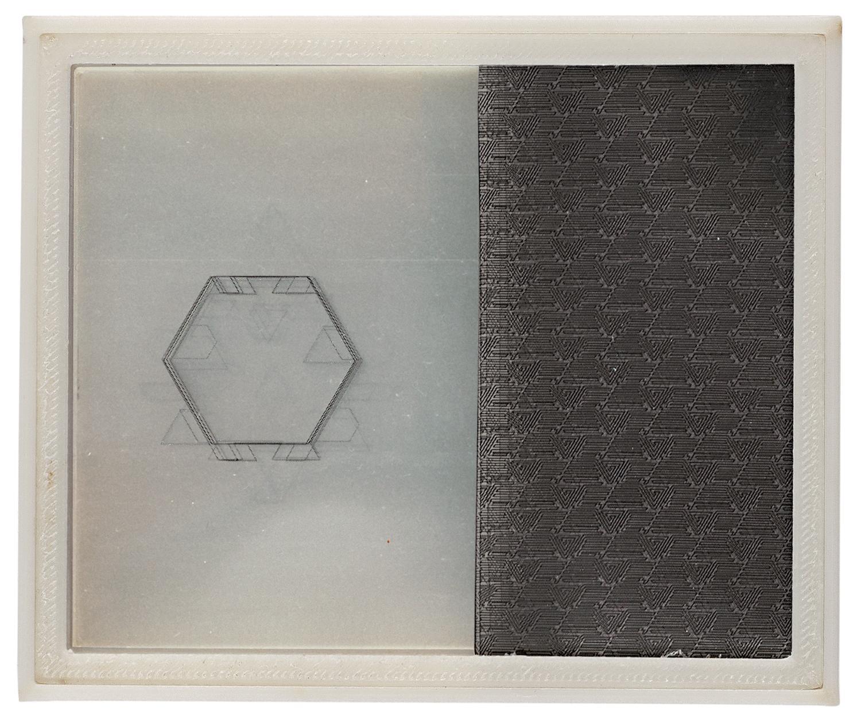 Title:  Passport   Materials:3D-print, layers of print on transparencies