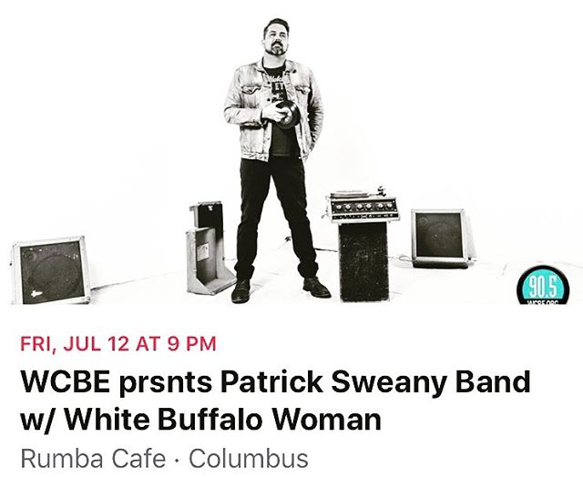 COLUMBUS! It's been a minute. Check us out with @patricksweanyofficial on July 12th at @rumbacafeoh @wcbe905fm