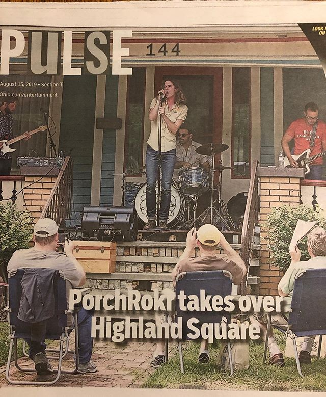 What up @akronbeaconjournal  We hit @hsnaporchrokr this Saturday - 7:00PM Highland Square PorchRokr Festival The Summit Porch @ 45 Marshall Ave. !