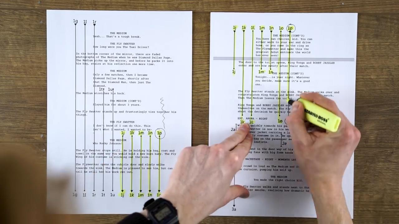 Pre-lining a script.jpg