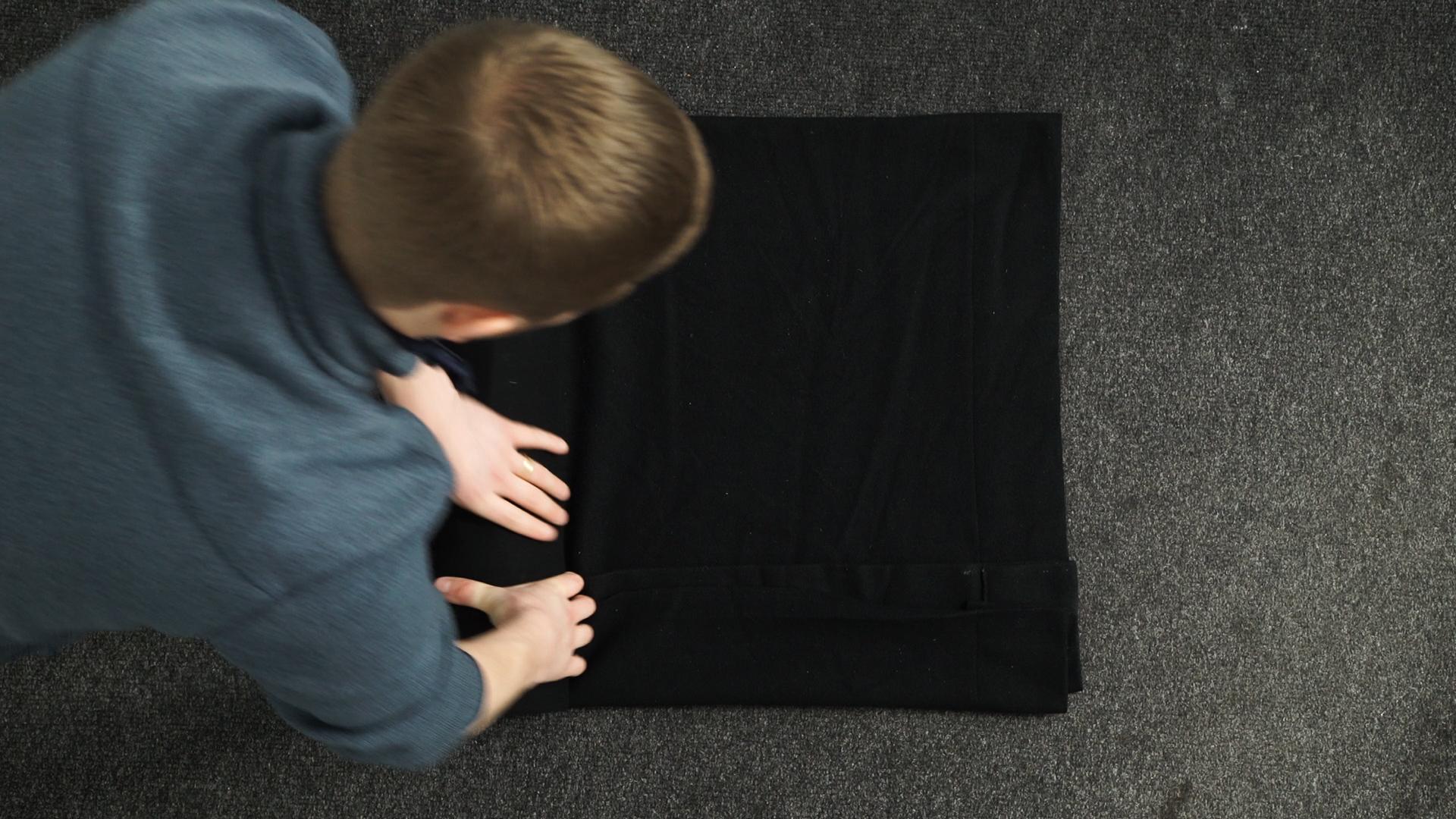 Blackout Curtain Fold like a  burrito