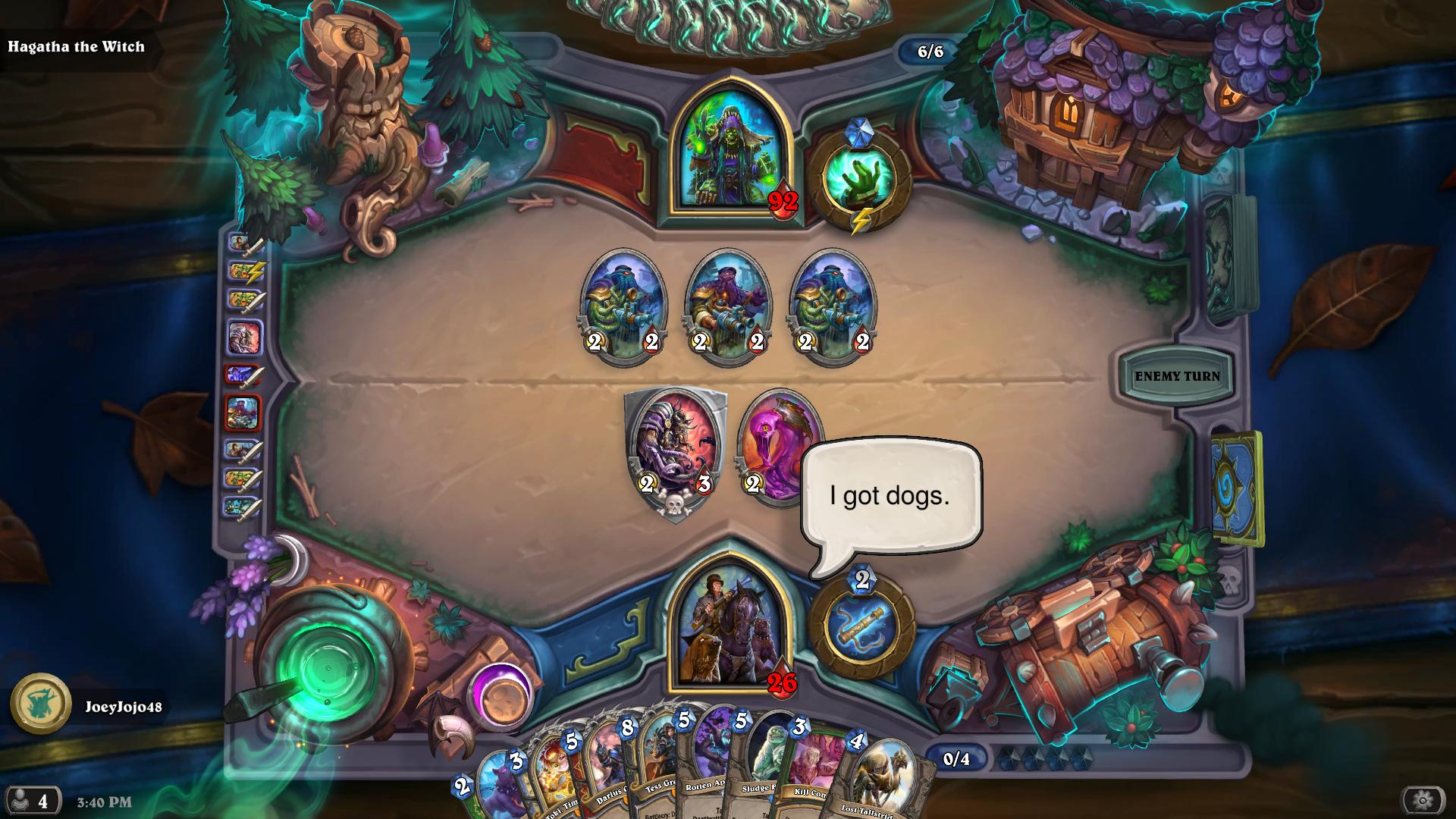 Get wrecked by doggos, Hagatha!