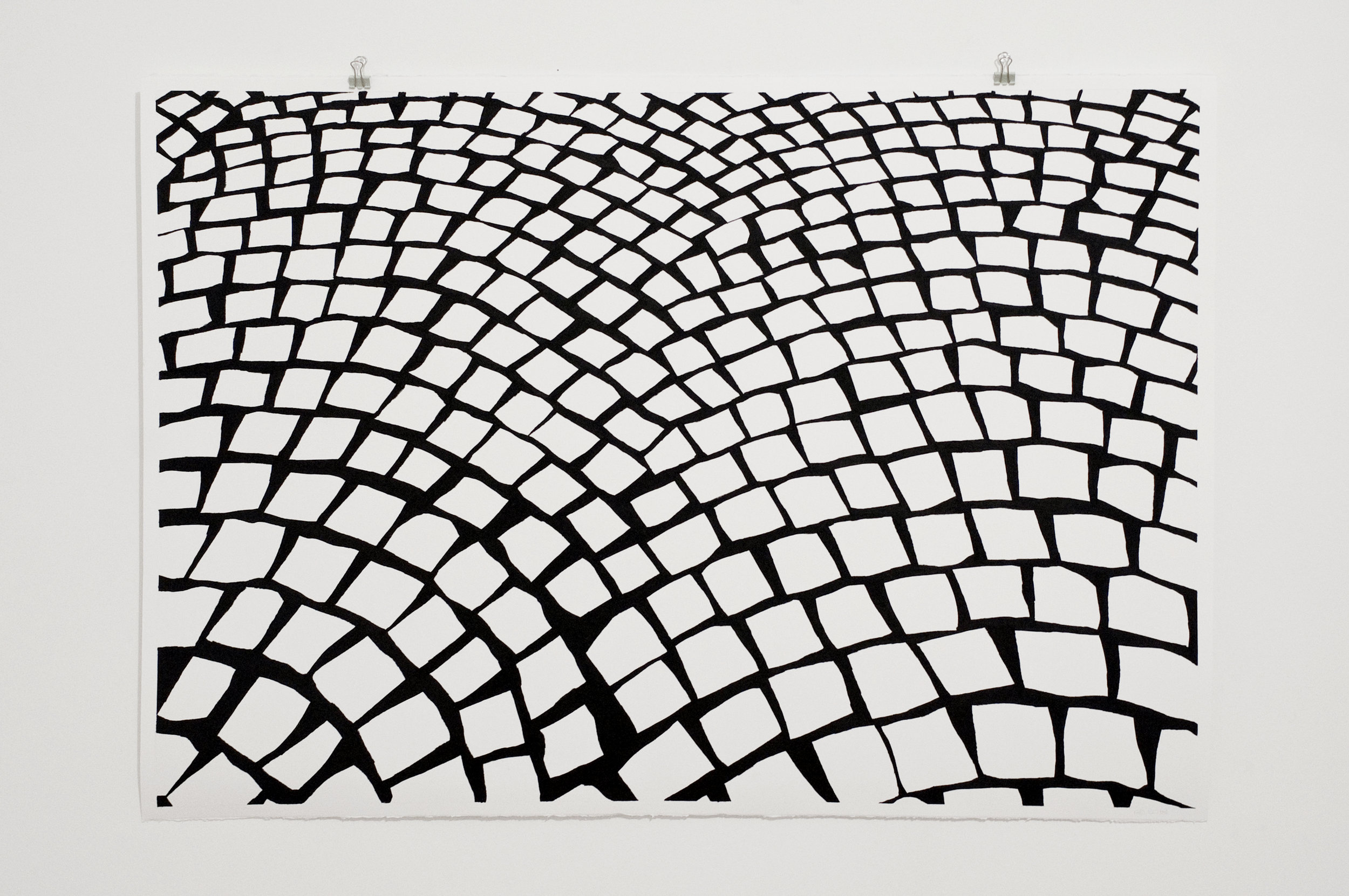 charcoal on paper  70 by 100cm  2018