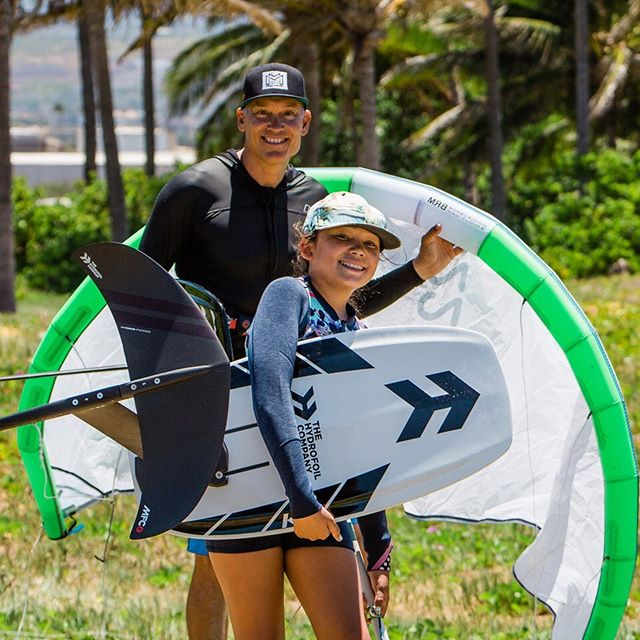 What it's all about. Father and daughter Kainani and Scott Drexler killing the game. #THEHYDROFOILCOMPANY