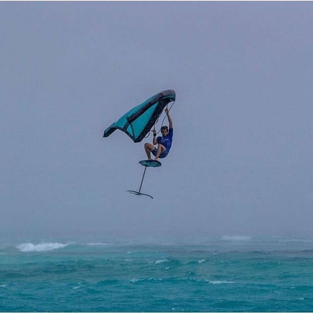 @kai_lenny levitating in the Maldives | photo: @shampzz #THEHYDROFOILCOMPANY