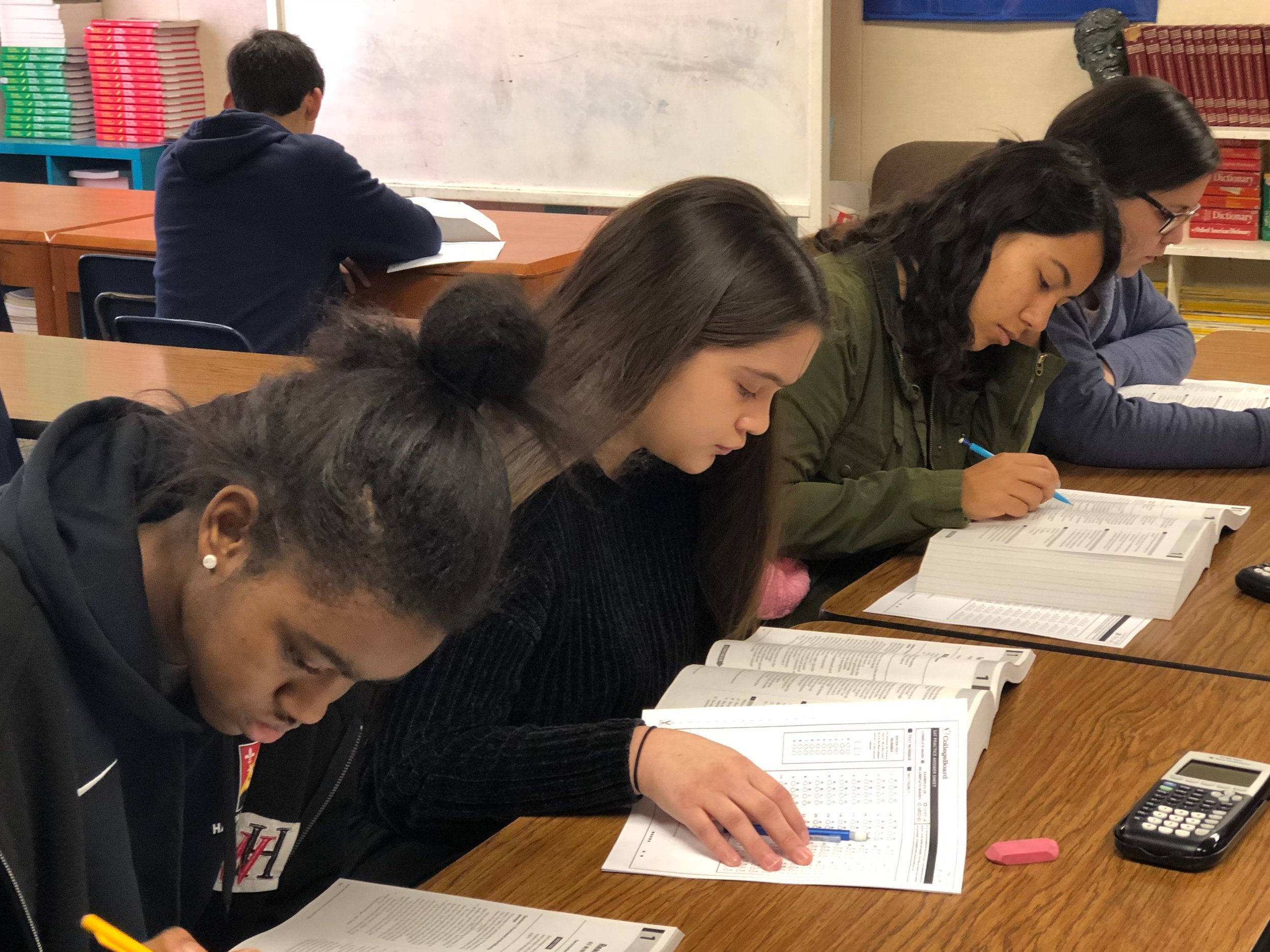 Undergrad Prep students take a full-length practice SAT exam.