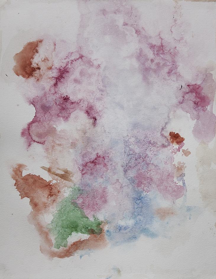 cloud, 2016 | watercolours on paper, 35x27 cm