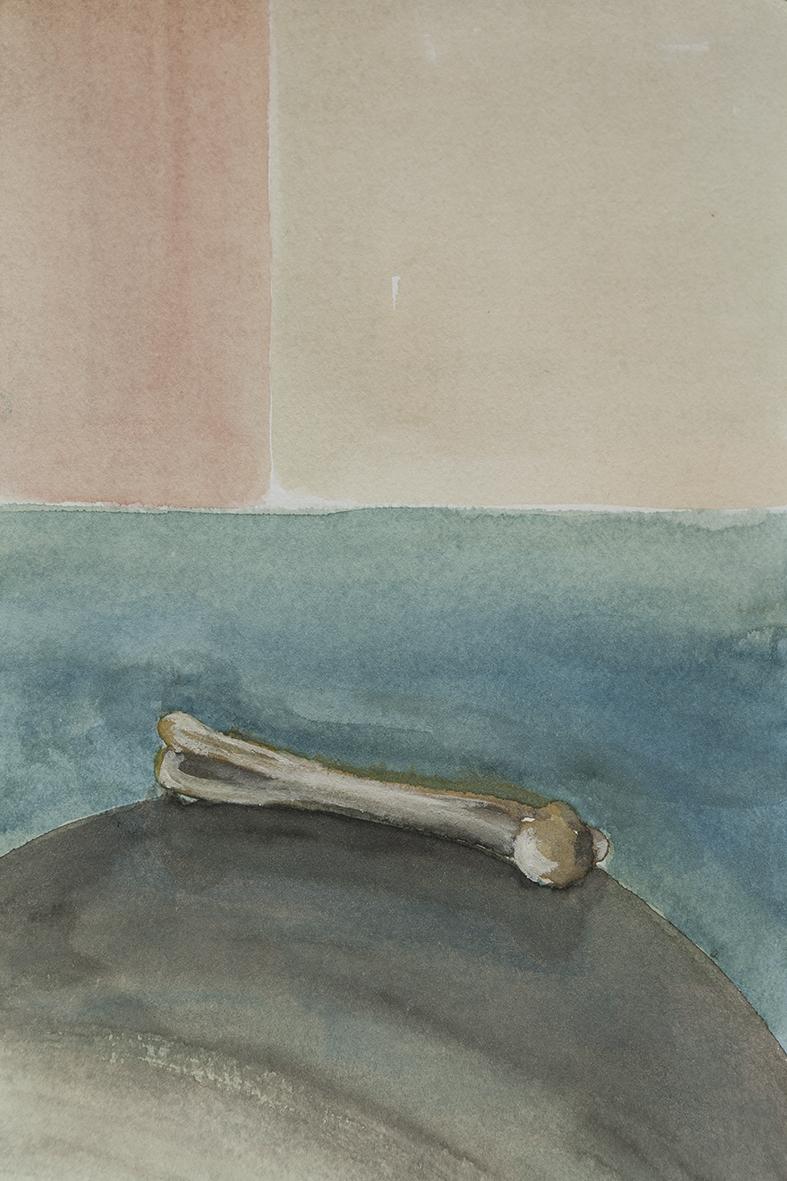 bone, 2014 | watercolours on paper, 27x17,5 cm