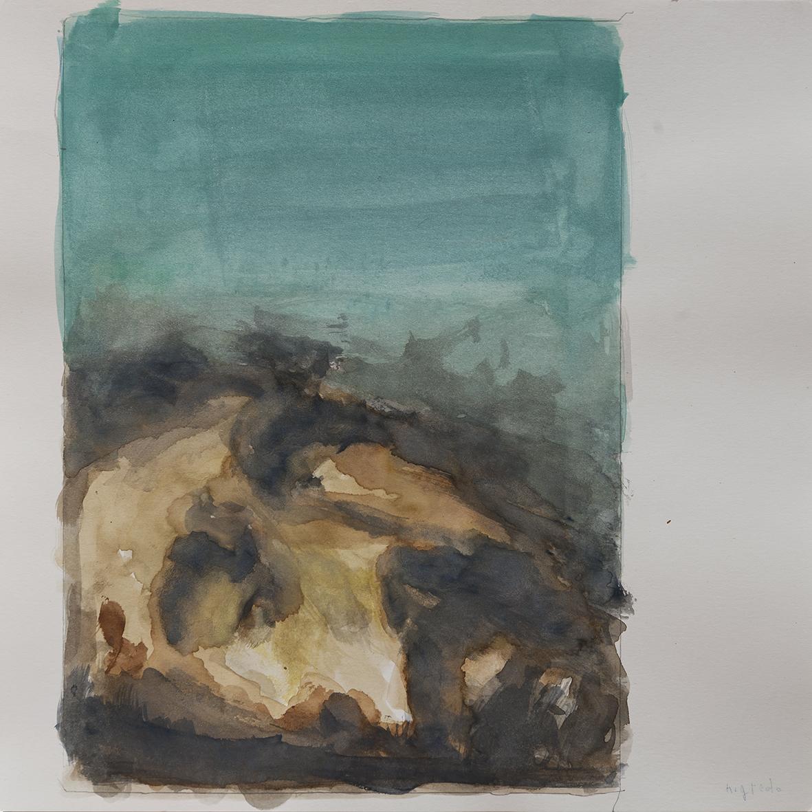 nigredo, 2014 | watercolours on paper, 25x25 cm