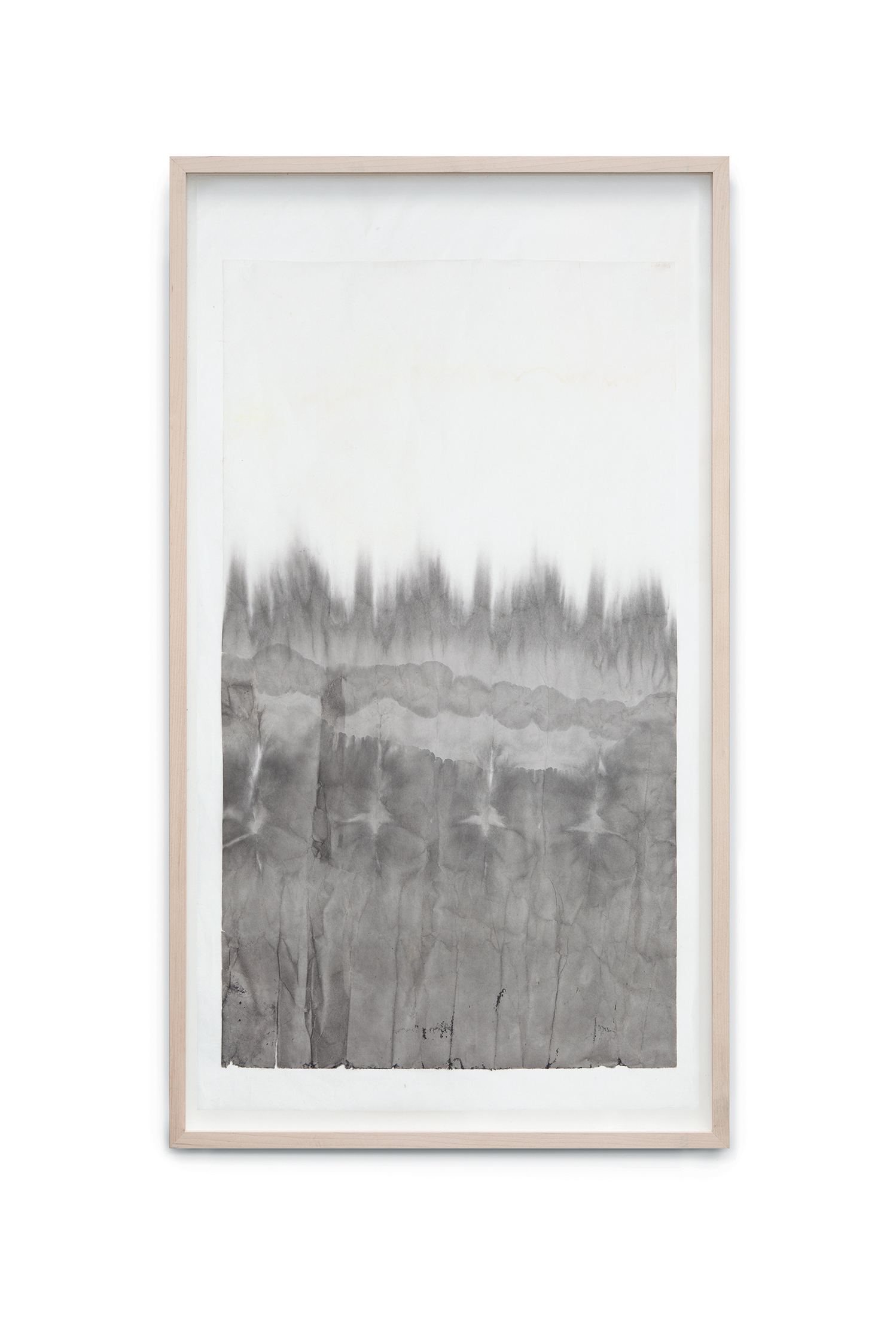 Immersion II, 2014, ink on rice paper coated on japan paper, 80x46 cm
