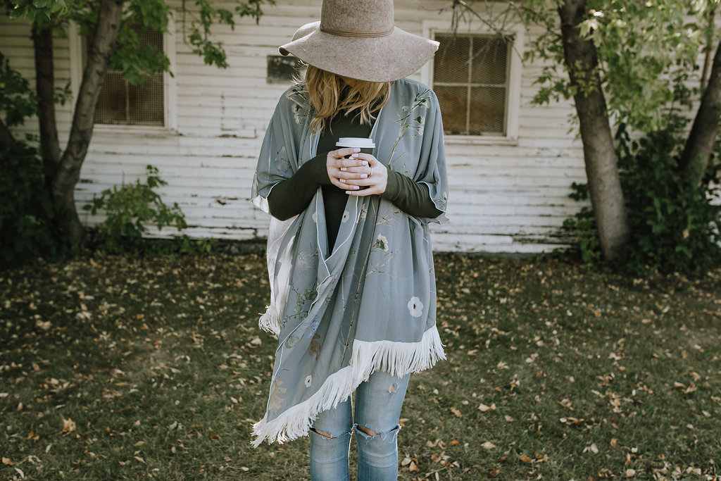 Grey Dreams with fringe