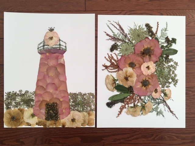 Oxeye Floral Co., wedding, keepsake, wedding keepsake, bouquet, pressed flowers, abstract bouquet, lighthouse.JPG