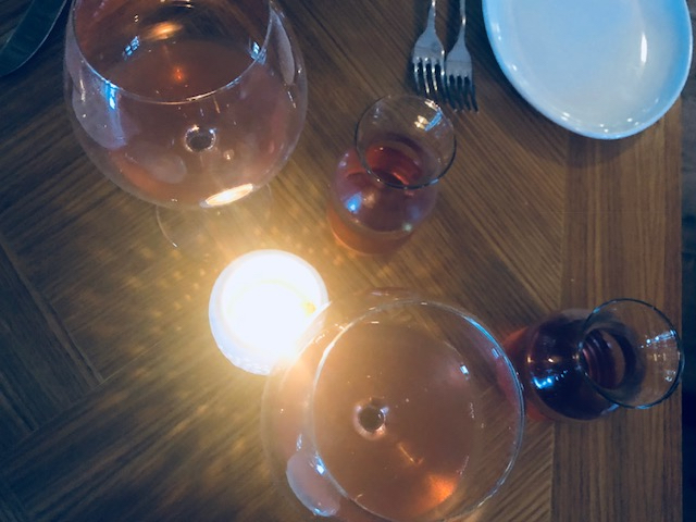 Glass of rosé, photographed by Alison Hernon