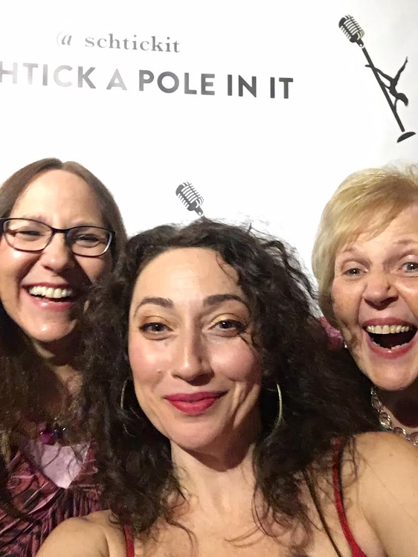 Mom, Schtick's founder and comedic host, JoAnna Ross, and Grandma.
