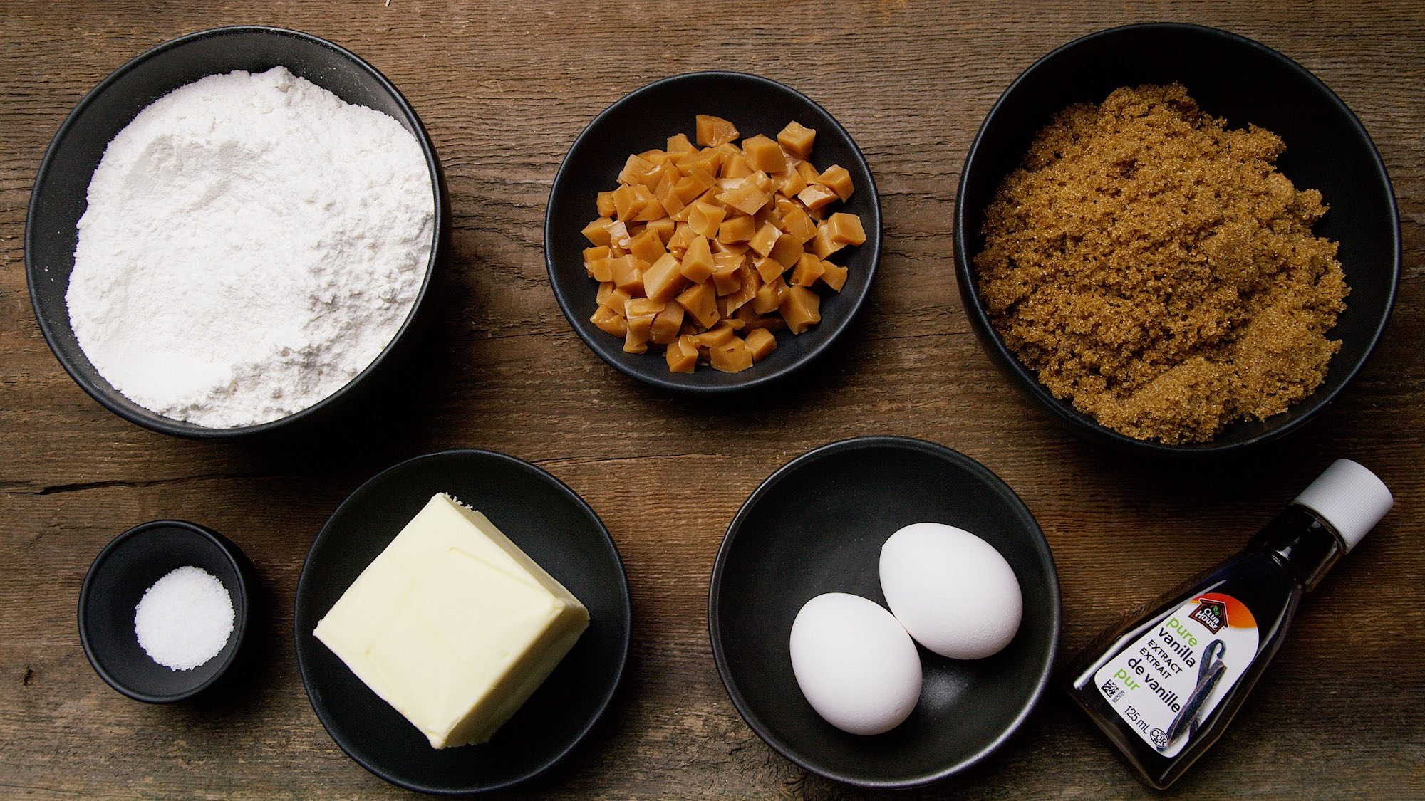 Simple ingredients, and if you can't get Mackintosh's toffee bits, you could use Skor or any other toffee.