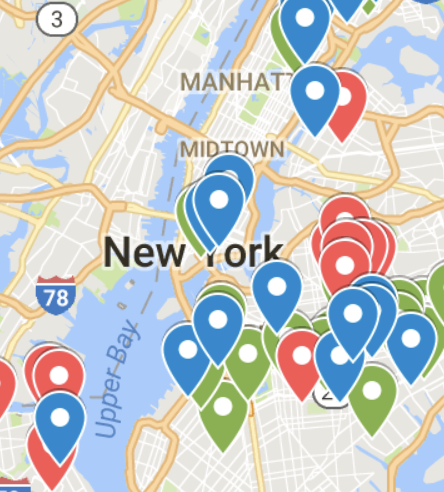 Click to view an interactive map of all NYC Reading Rescue partnerships.