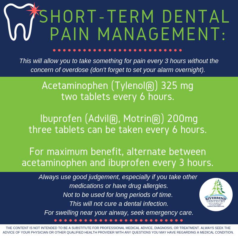 Riverbend Dentistry - Short Term Dental Pain Management Instructions.png