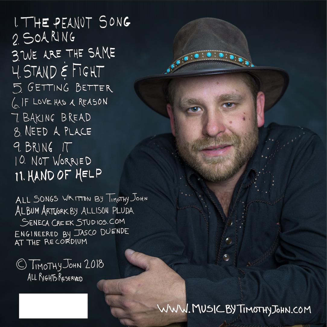 Timothy John Hand of Help Album Back.png