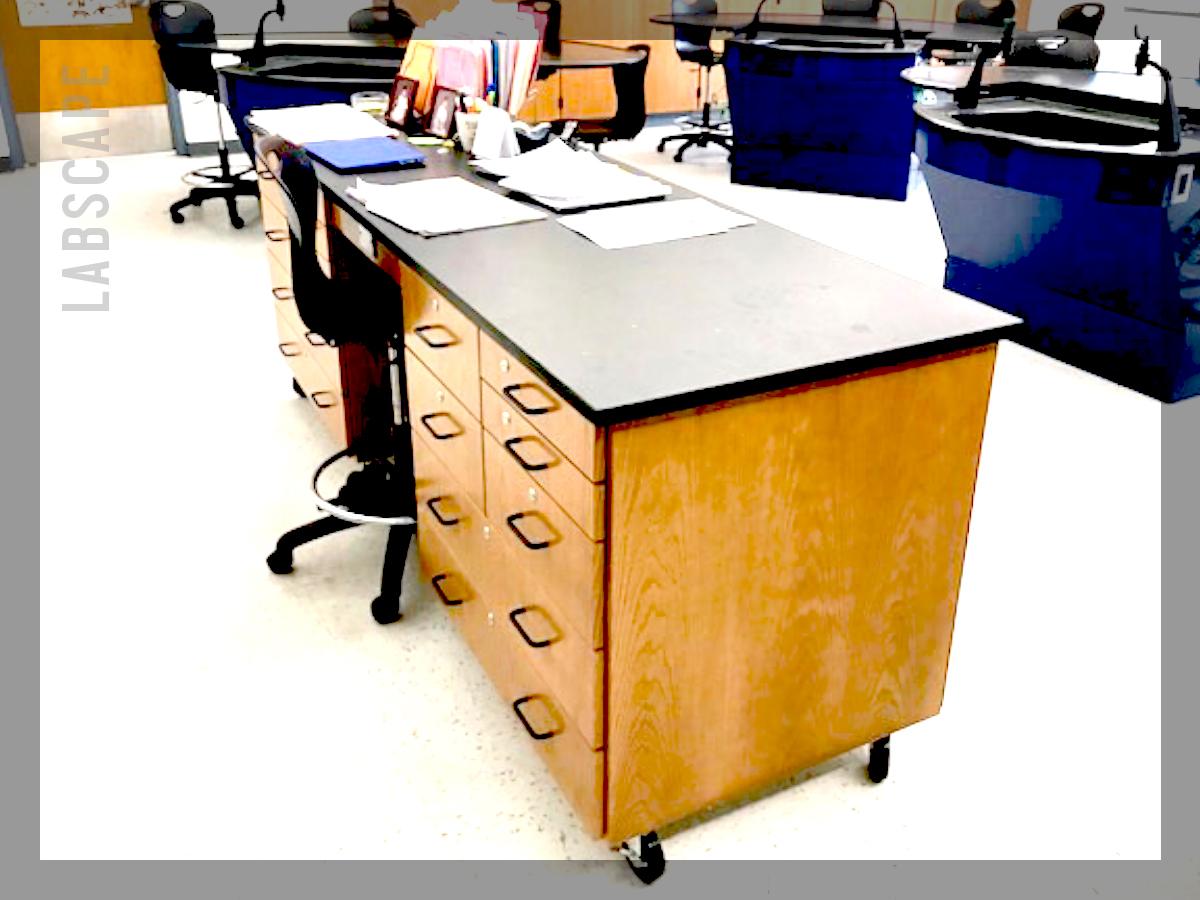 teacher's demo desk -