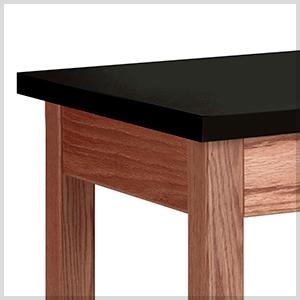 LS-WOOD-LEGGED TABLE - CHEM RESISTANT WORKTOP.jpg