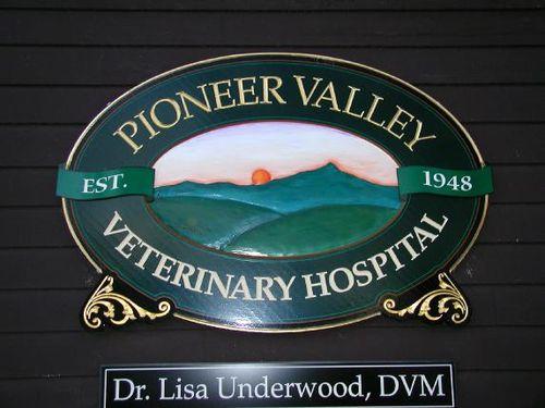 Pioneer Valley Veterinary Hospital sign