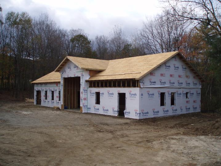 Keene Signworx shop build Swanzey, NH Oct 2011