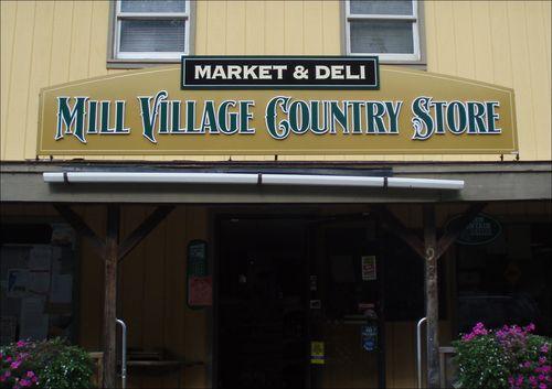 Mill Village Country Store Market & Deli sign