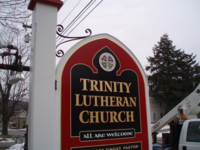 Trinity Lutheran Church sign cropped
