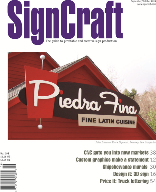 Signcraft cover with Piedra Fina sign featured