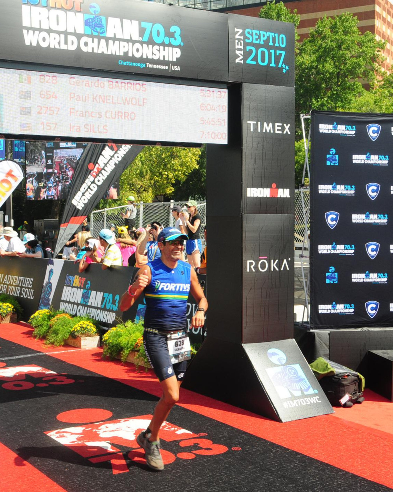 Coach Gerardo at Ironman 70.3 World Championship in Chattanooga.