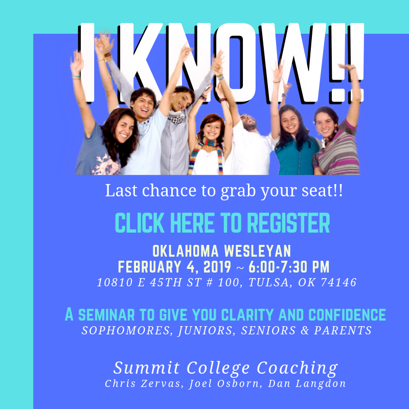 A college-prep seminar designed to give you clarity and confidence for deciding and communicating what comes next.