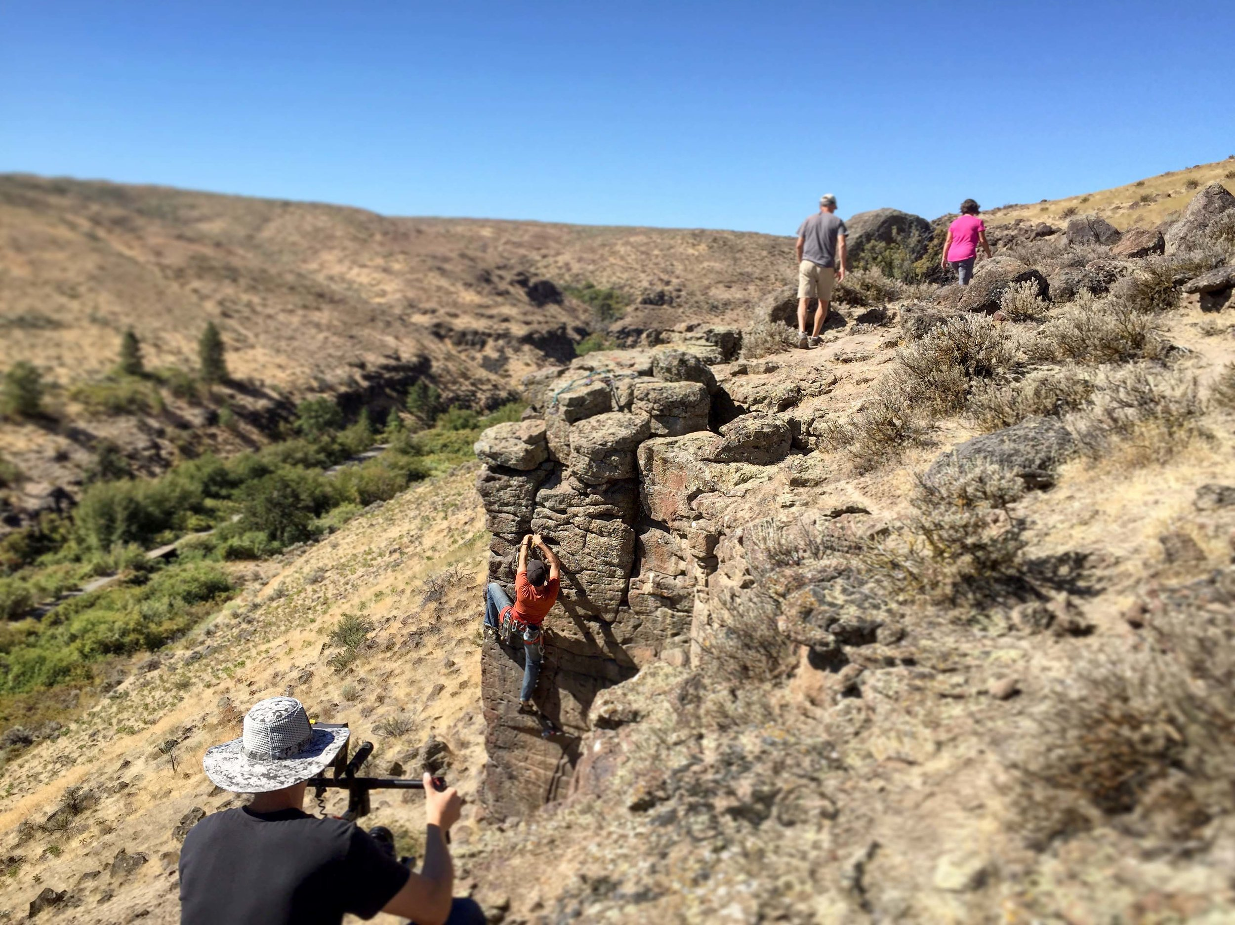 Cowiche Canyon Rock Climber Hiking Yakima