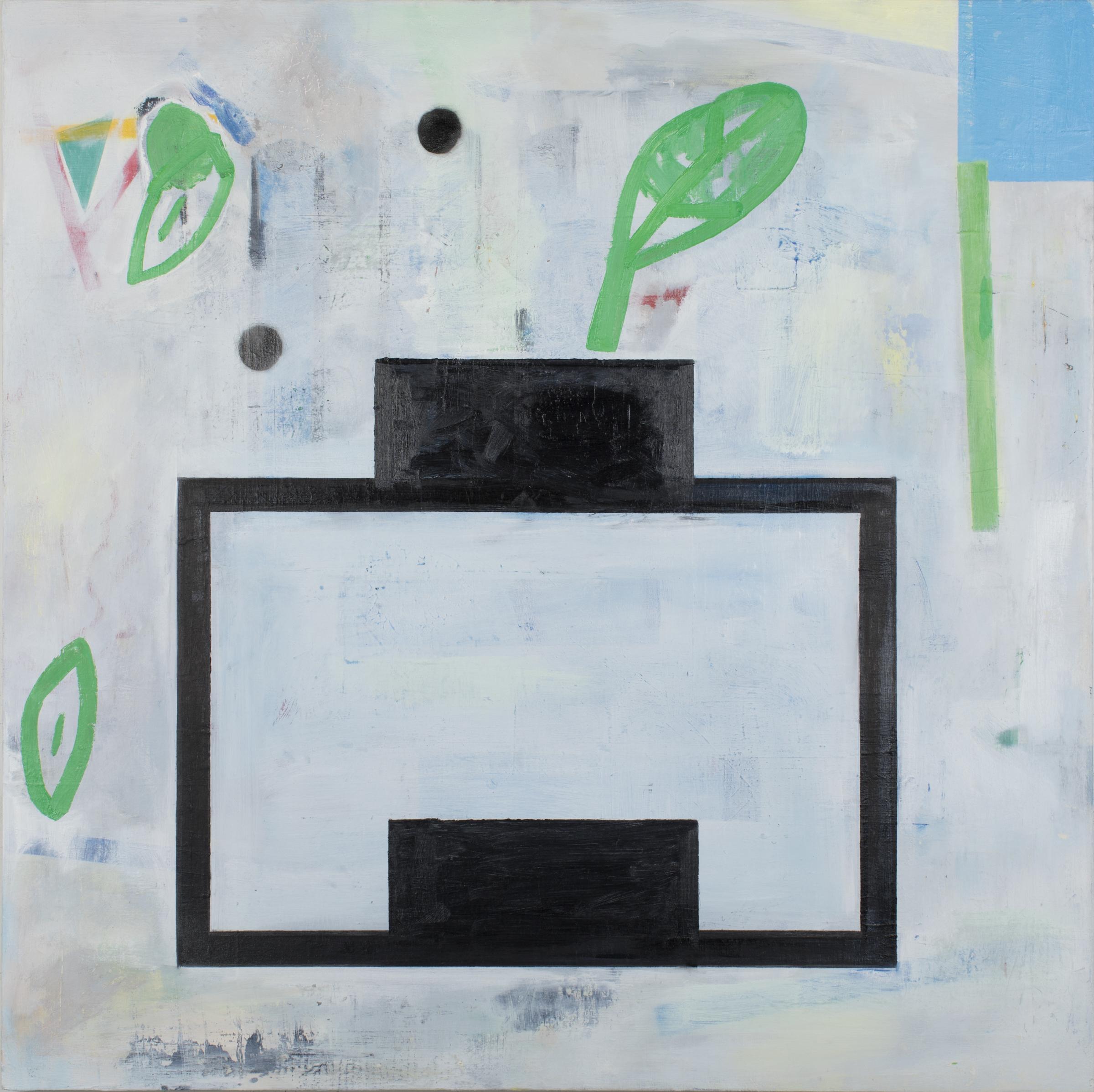 """#2809 48"""" x 48"""" Oil/Panel, 2017"""
