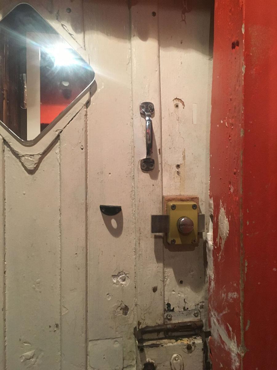 Restaurant bathroom doorway (I), Paris France