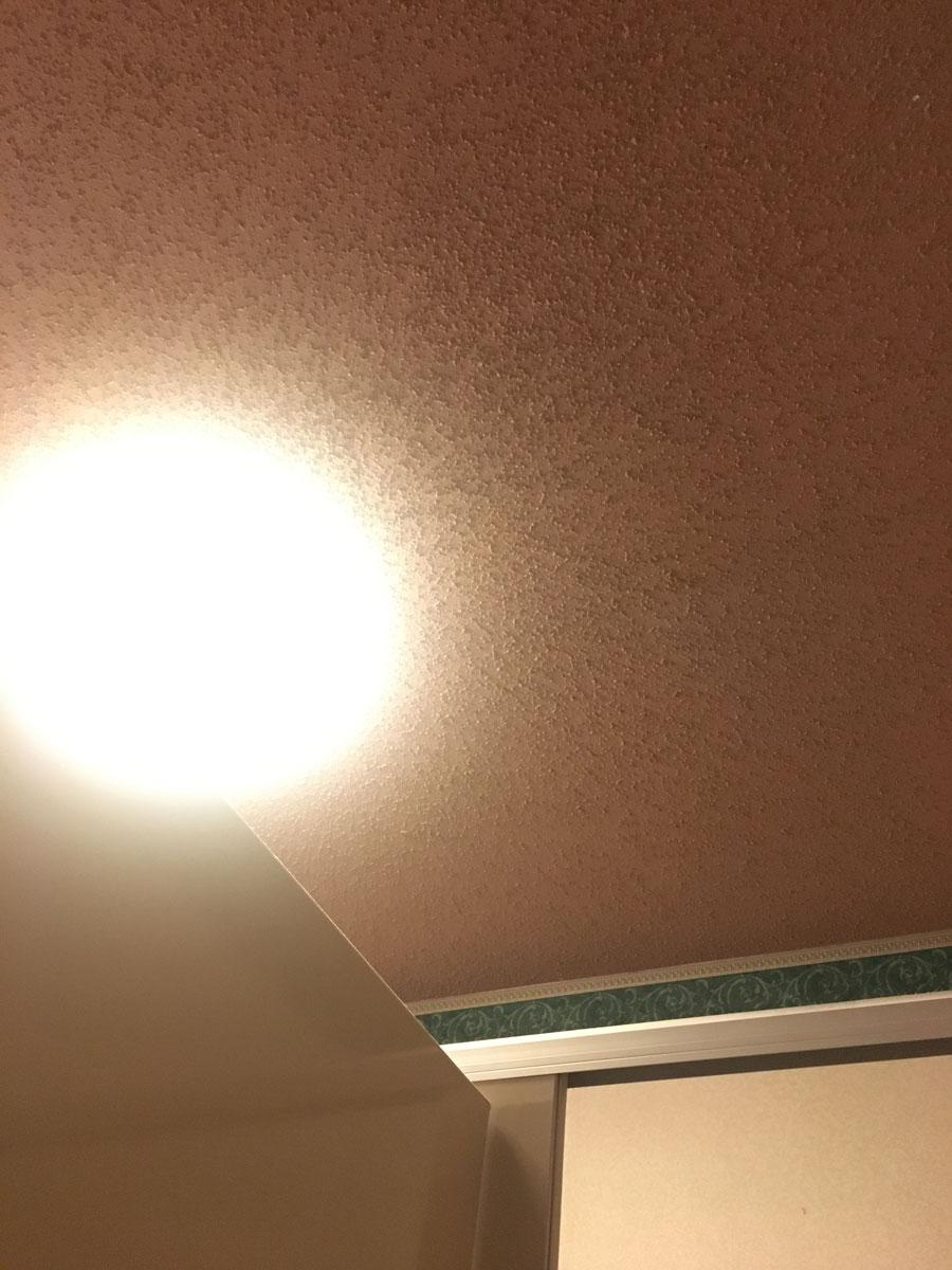 Restaurant bathroom ceiling, Appalachian NY