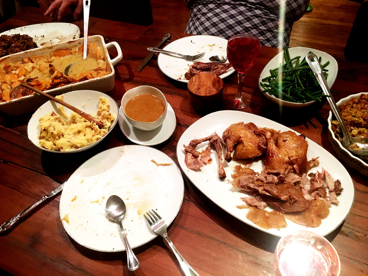 We barely made a dent… food coma hits