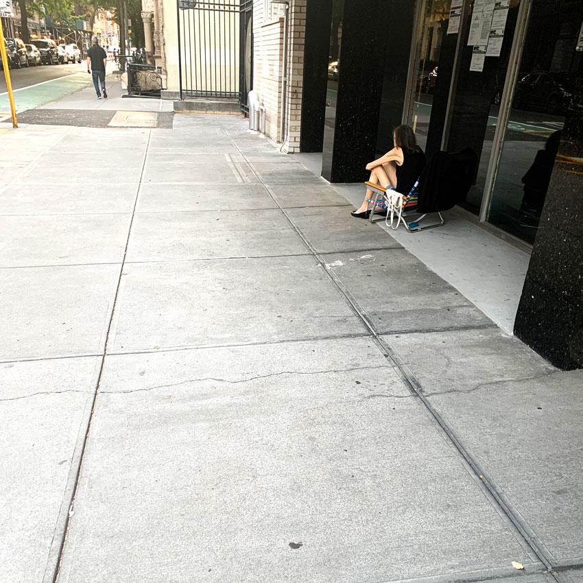 Sidewalk Sunbathing