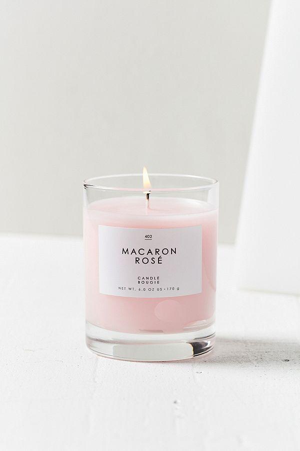 Gourmand Macaron Rose Candle