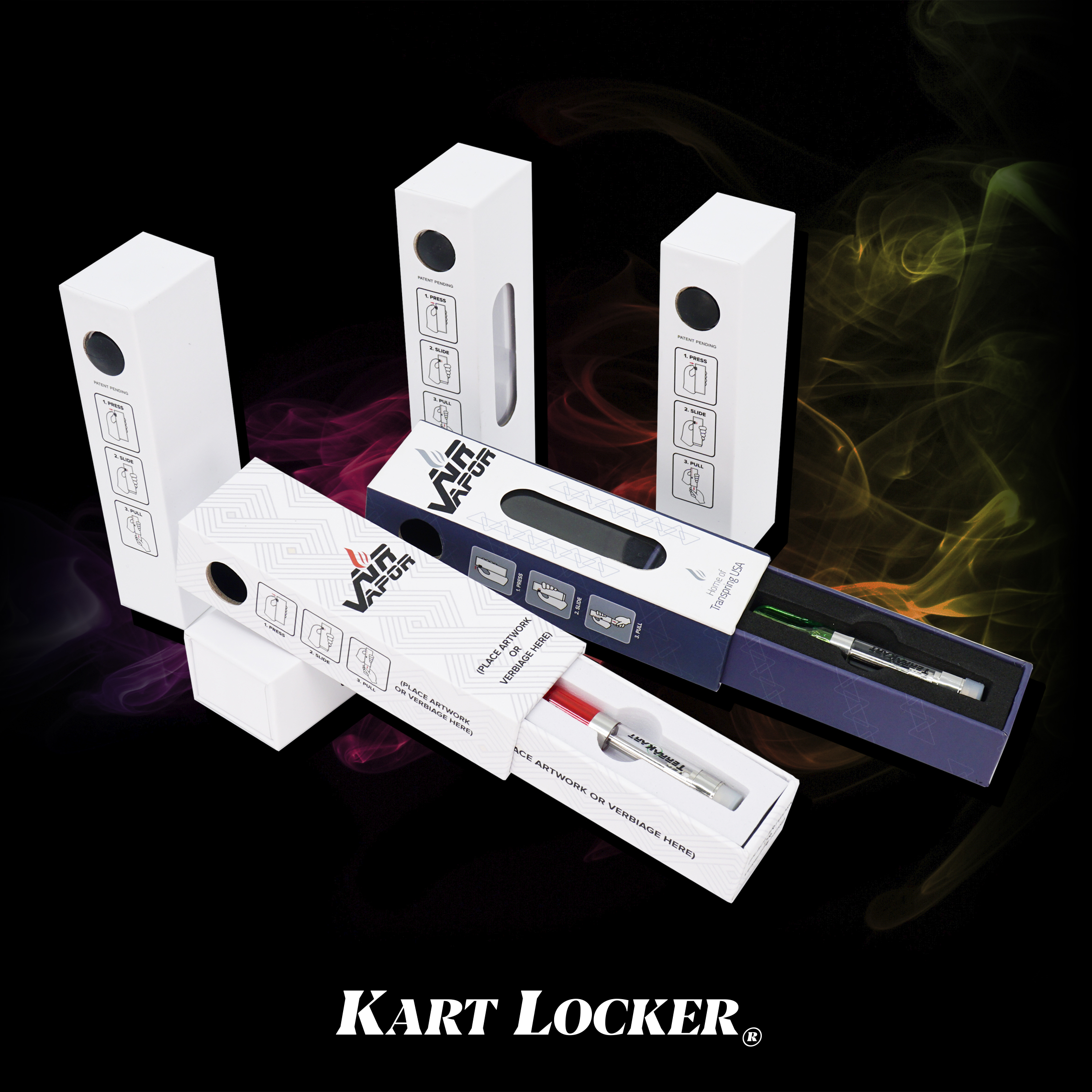 KART LOCKER - Certified Child Resistant Vape Cartridge PackagingFits 0.5mL & 1.0mL Cartridges Works Great with tk carts!