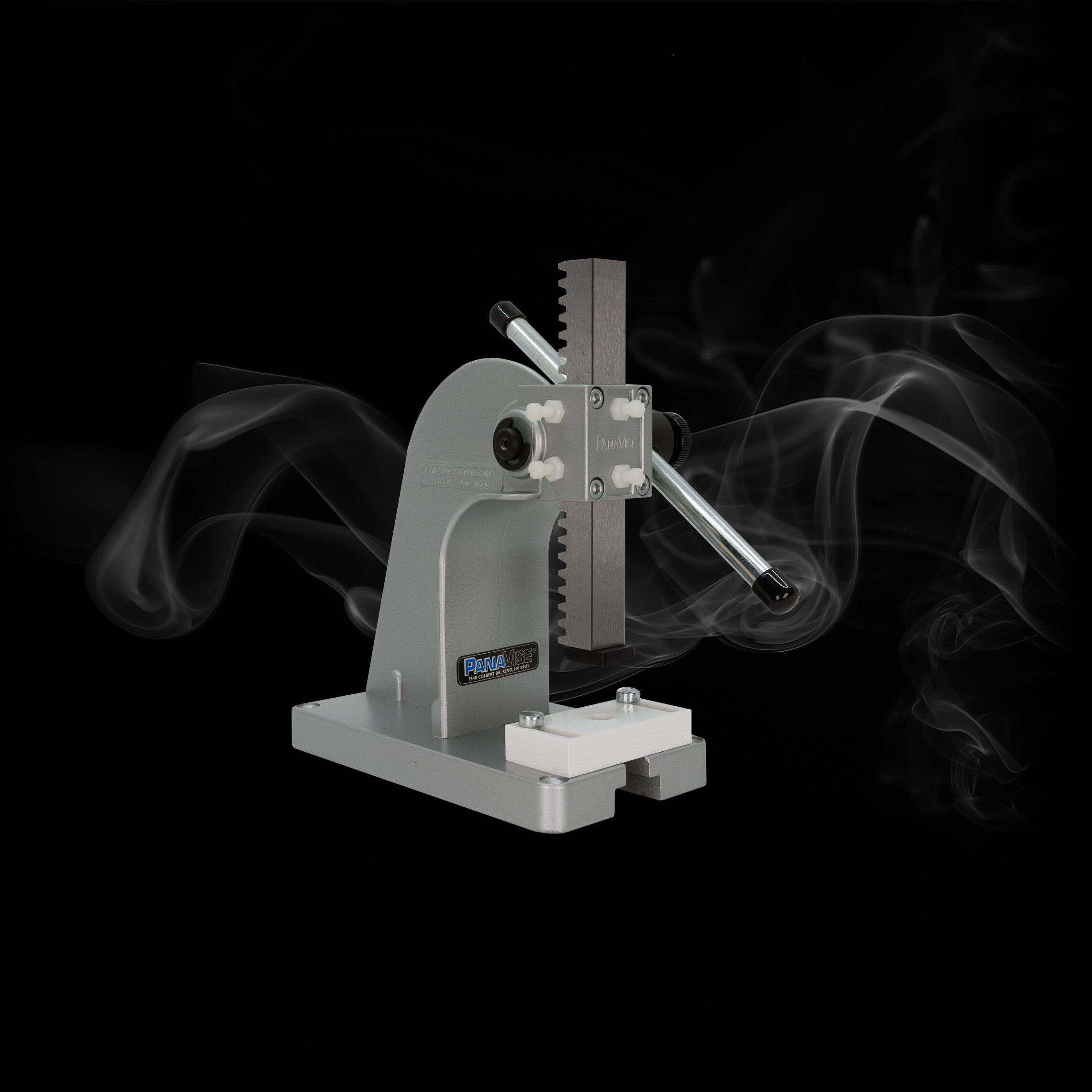 arbor press - Features:Adjustable HandleCustom Made C6 Jig to fit 1.0mL or 0.5mLCan be mounted to table, or used standaloneTension Adjustments with 4 screws for precision