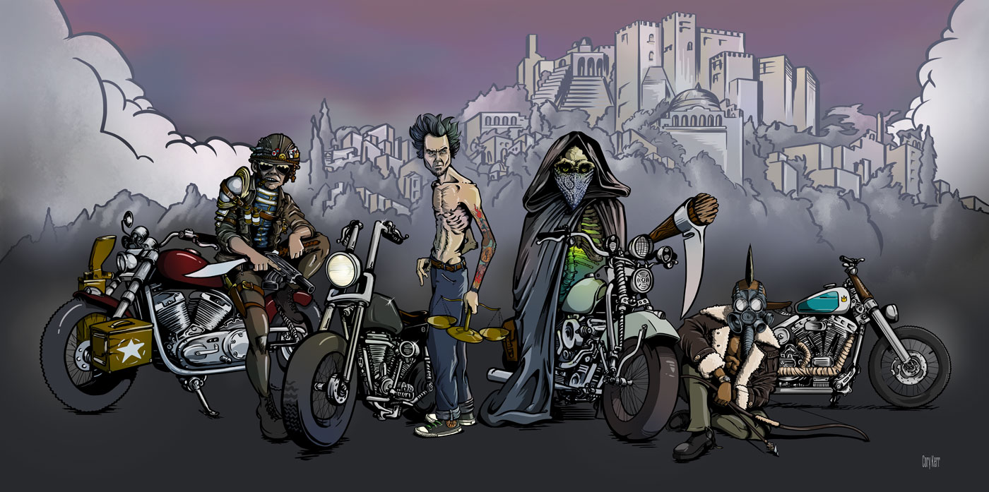 four bikers of the apocalypse