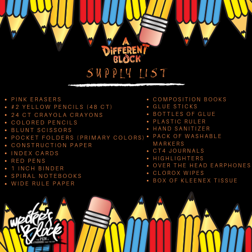 Now accepting donations for the 2019 Supply Drive, Jul 25 - Aug 24.