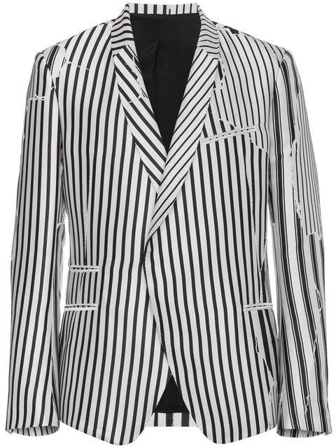 Haider Ackermann   Deconstructed Stripe Structured Blazer
