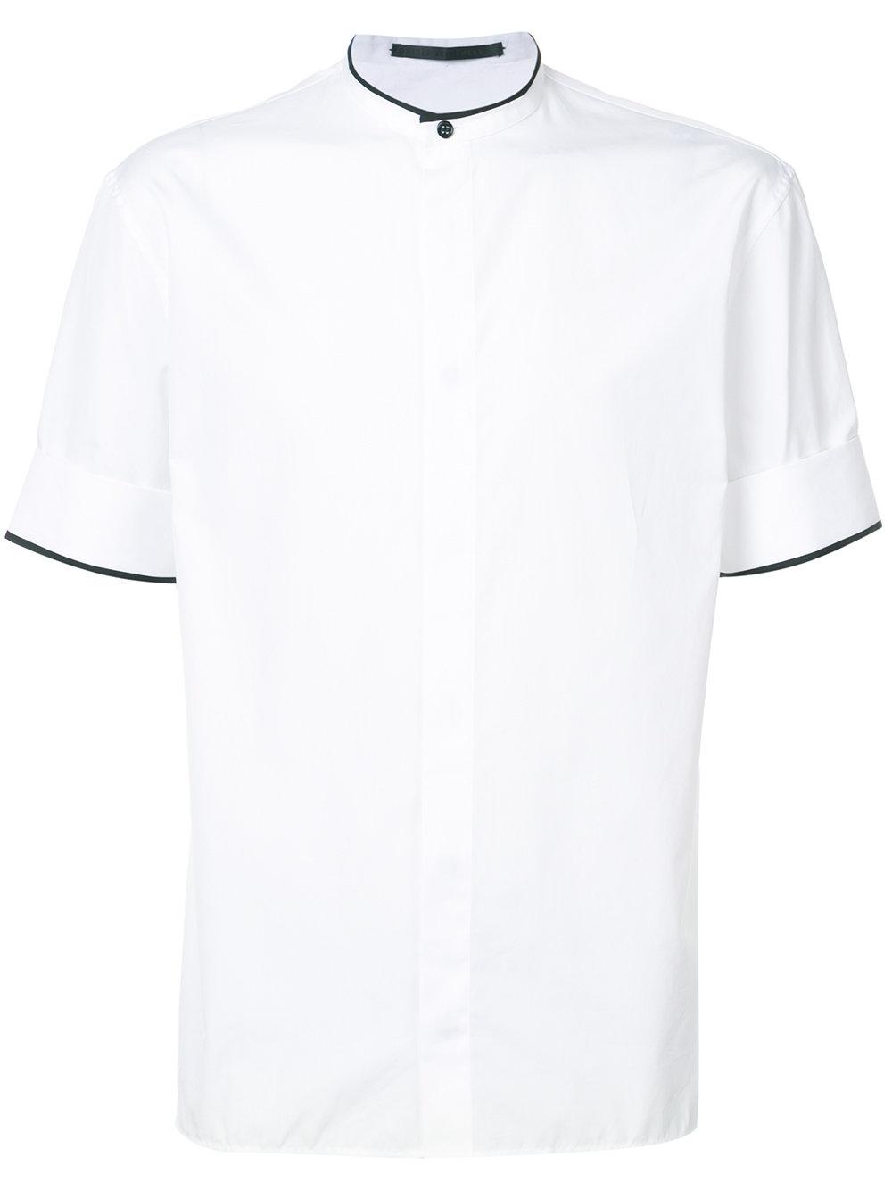 Haider Ackermann   White Mandarin Collar Shirt