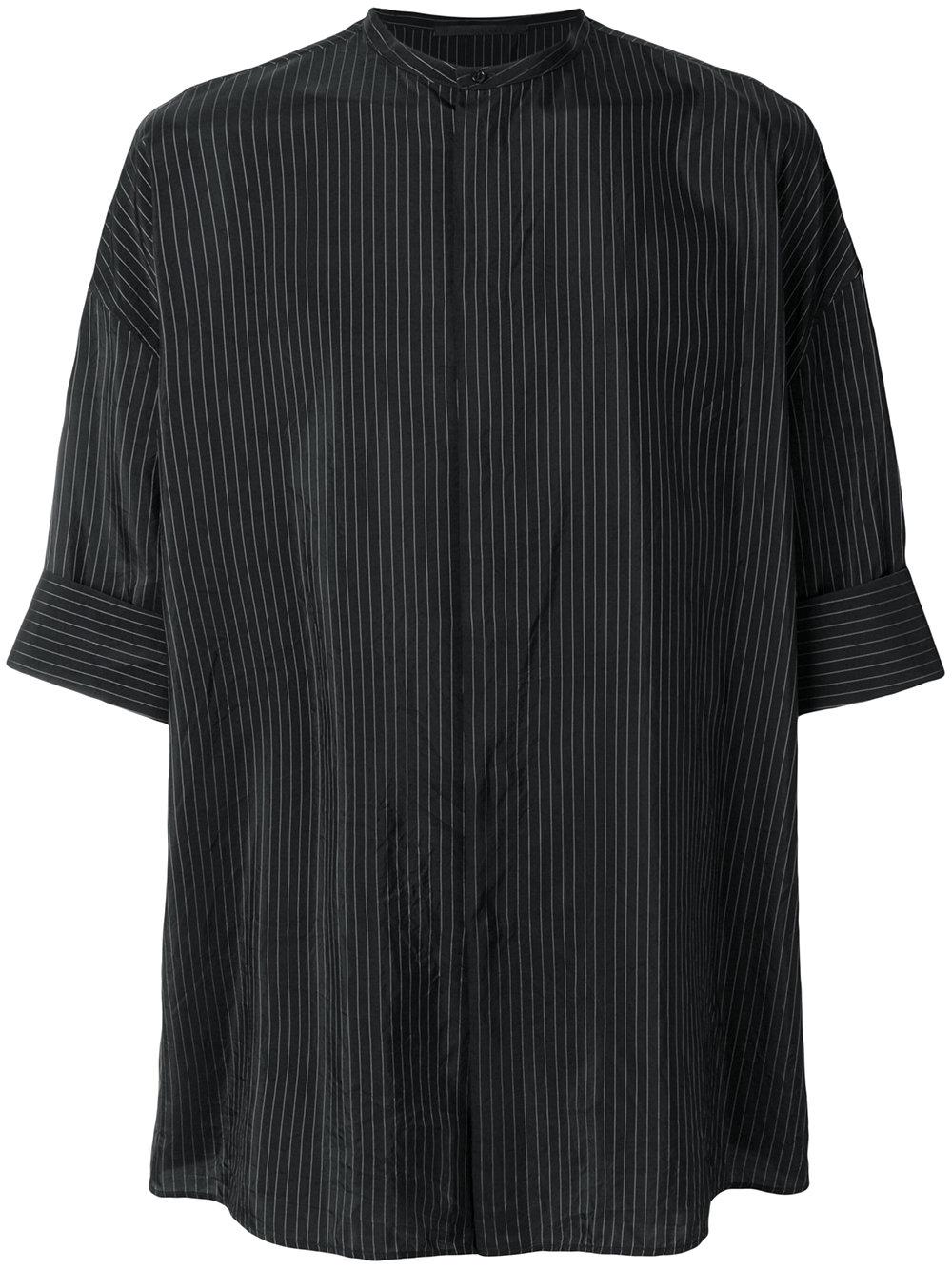 Haider Ackermann   Thin Strip Mandarin Collar Shirt