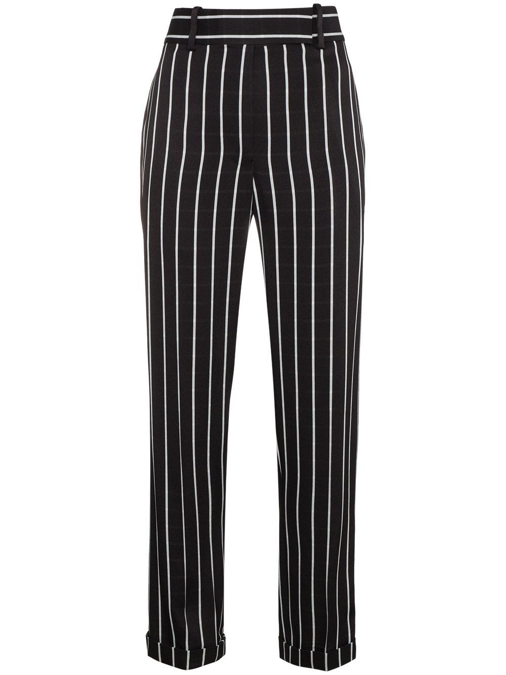 Haider Ackermann   Black and White Striped Trouser