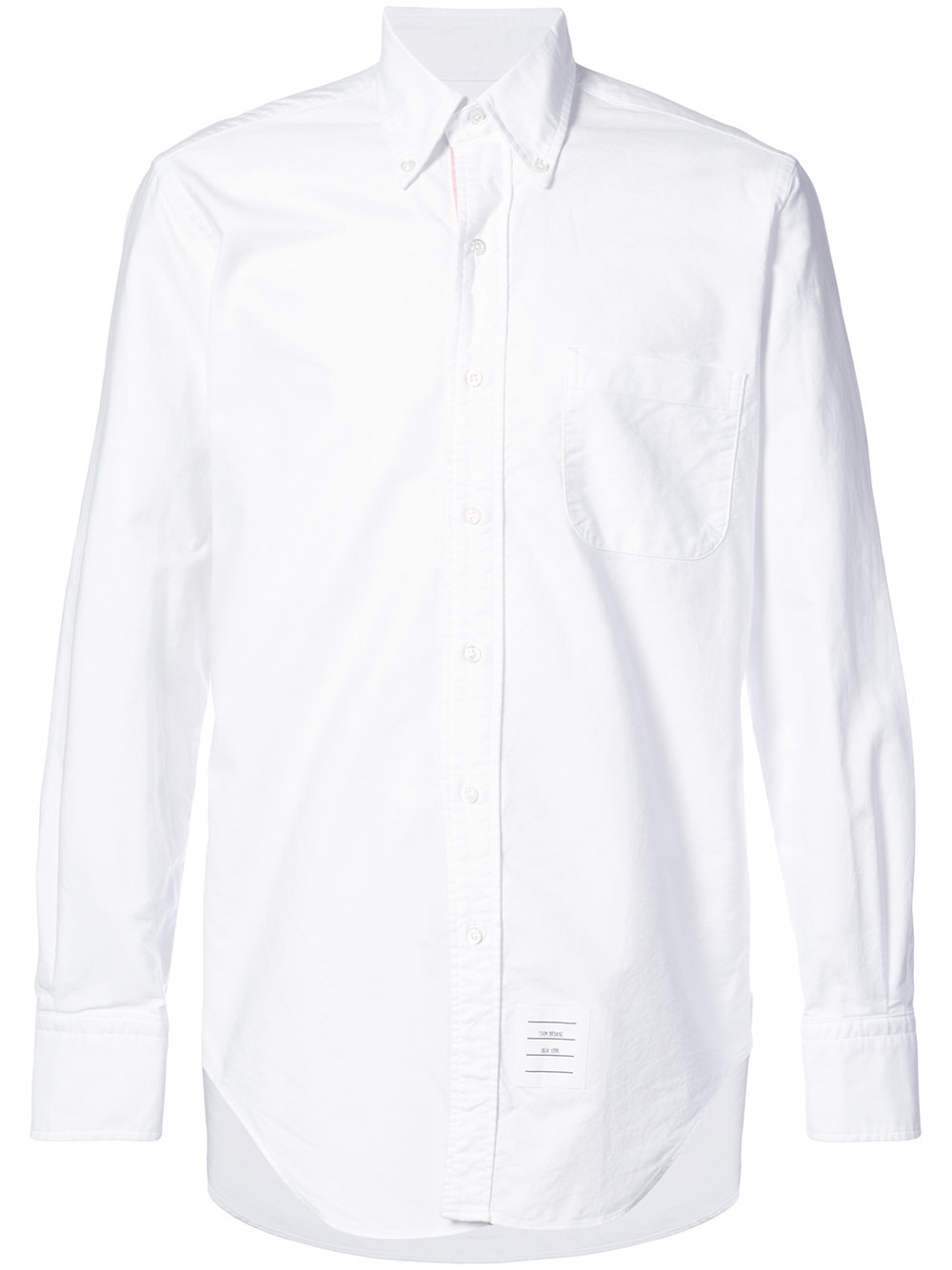 Thom Browne   Engineered White Button Down Shirt
