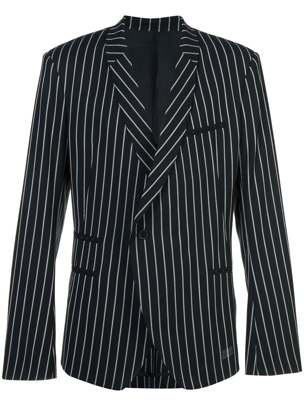 Haider Ackermann   Black and White Stripe Tailored Blazer