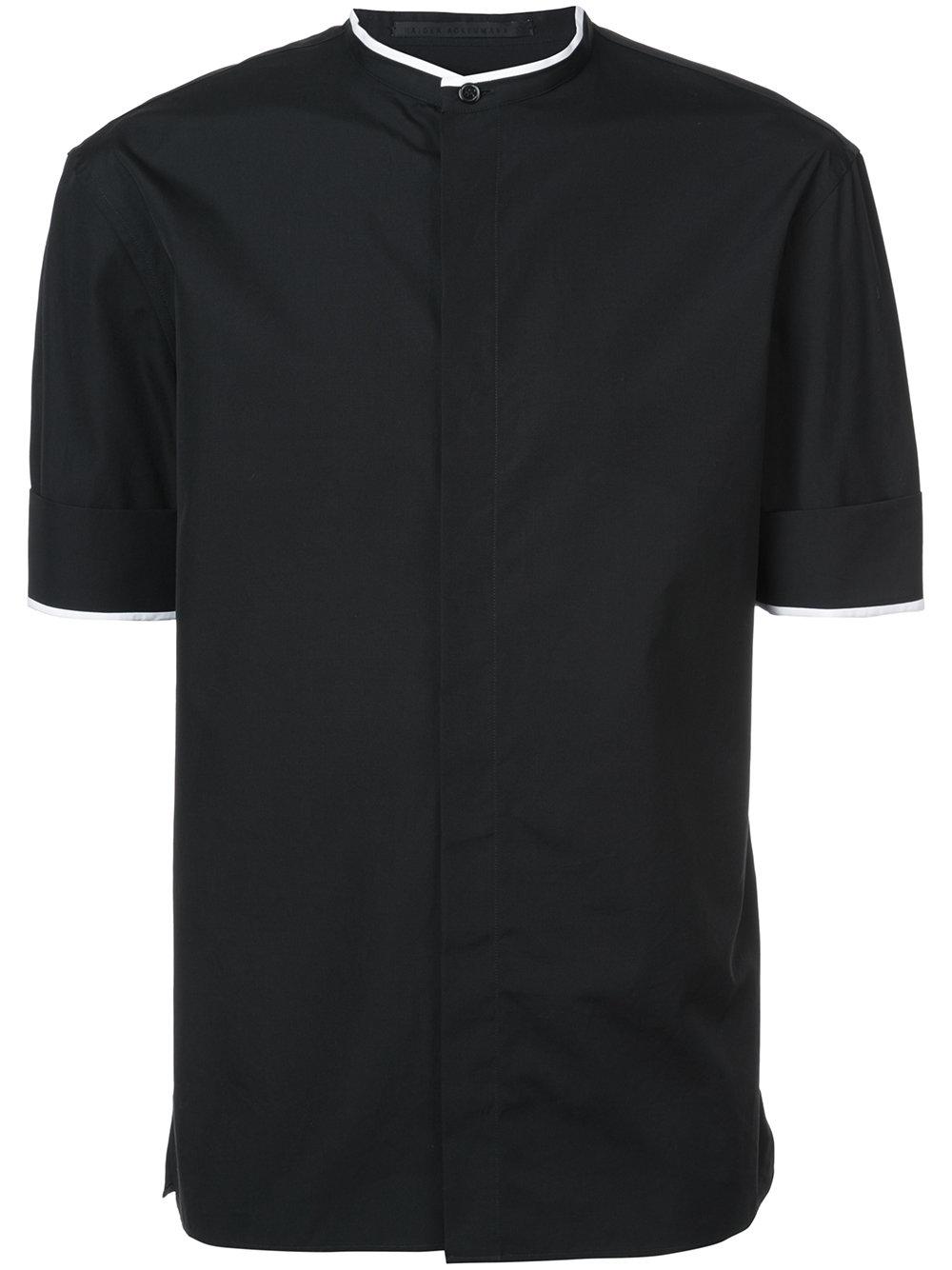 Haider Ackermann   Black Mandarin Collar Shirt