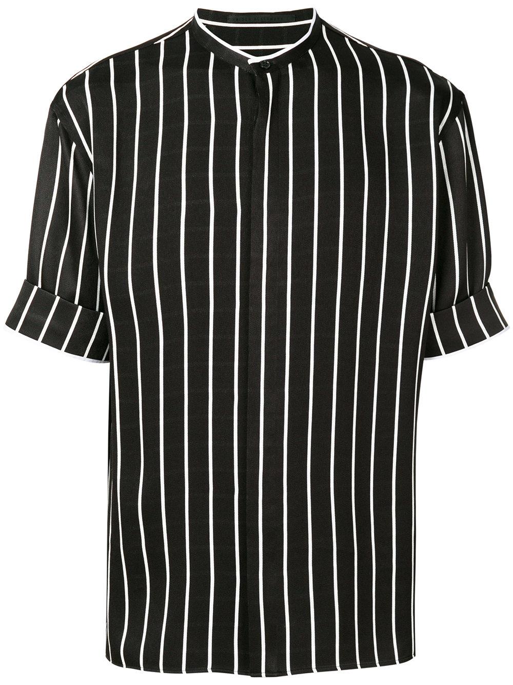 Haider Ackermann   Thick Stripe Mandarin Collar Shirt